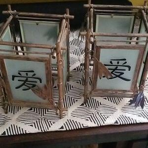 Set of 2 asian lanterns